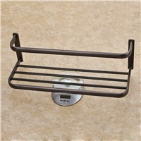 FLG wall mounted Bathroom accessories towel rack black bathroom towel rack Brass towel racks bathroom
