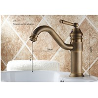 Vintage Style antique basin faucet brass bathroom sink mixer wash basin taps with single handle