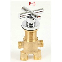 Shower room mixing valve, Brass bathtub set of taps for hot and cold water, switch shower valve, 3pcs shower faucet mixer