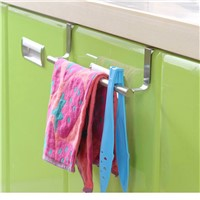 Hot sale Stainless Steel Towel Bar Holder Over the Kitchen Cabinet Cupboard Door Hanging Rack Storage Holders Accessories NEW
