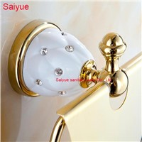 Hot Sale European Luxury Gold Toilet Paper Holder Lavatory  Roll Tissue Rack With Cover  Wall Mounted Metal  porte-papier