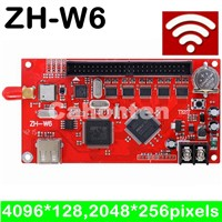 ZH-W6 wifi led controller card, LED P10 Module indoor, semi-outdoor, outdoor wifi wireless led sign card, U disk drive board