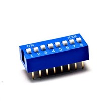 10PCS/Lot Positions DIP Switch 8 Way 2.54mm Toggle Switch Blue Snap Switch Wholesale Electronic