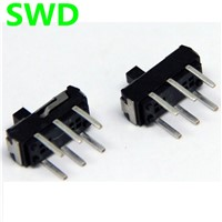 10pcs on-off switch mini On / Off / On 2P2T DPDT 6 pino DIP Vertical interruptor micro slide switch #DSC0011