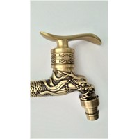 Antique bronze Dragon carved tap  faucet Garden Bibcock washing machine faucet outdoor faucet for Garden