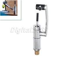 Brass Chrome Kitchen Basin Faucet Bathroom Sink Faucet Sink Basin Mixer Tap Finish with Long 360 Swivel Spout Rotate Faucet