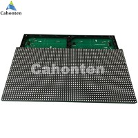 P7.62 Red color SMD display module indoor / semi-outdoor F5.0 488*244mm 64*32pixel hub08 for lintel text led moving sign