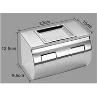 Chrome paper holder bathroom tissue box stainless steel waterproof toilet paper box toilet paper box toilet paper roll holder