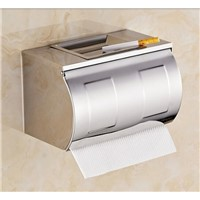 Ultra long stainless steel toilet paper box brief paper roll holder paper towel holder grass tray belt ashtray