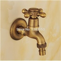 high quality antique brass washing machine bibcock brass garden faucet outdoor wall faucet single holder single hole