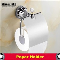 Bathroom accessories chrome crystal paper holder toilet roll holder wall paper hanger bathroom paper roll holder accessories