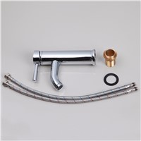 A Tall Fashionable Chrome Deck Mounted Bathroom Faucet Mixer Single Handle Vessel Bathroom Basin Mixer Tap