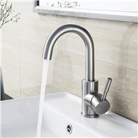 BLH 521 Value Bathroom Brushed Stainless Steel Basin Faucet Hot & Cold Water Mixer Tap Torneira Sink Faucet