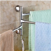 Swivel Towel Bars Wall Mounted Stainless Steel Towel Bars Hangers Three Towels
