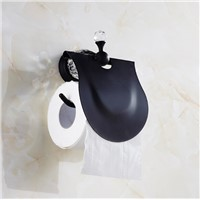High Quality Black Oil Brushed Toilet Paper Holder ,Paper Roll Holder,Tissue Holder,Solid Brass and Diamond Tissue box
