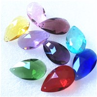 150PCS/LOT 38mm AB Glass Crystal Prism Pendant Crystal Suncatcher Hanging Trimming Drops For Strand Garland