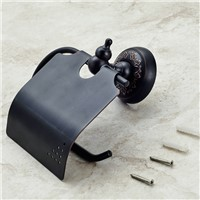 Wall Mounted Bathroom Oil Rubbed Bronze Toilet Paper Holder With Cover bathroom accessories