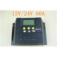 CM6024Z 60A 12V 24V panel Battery Charge Controller Solar Home system indoor use LCD 60A Solar Charge Controller