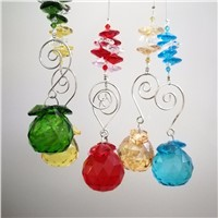 25 sets/lot 10 Colors To Choose Crystal Suncatcher Prism Ball Pendants Glass Lighting Pendant For Wedding Party Supply