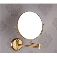 "8"" Double Side Bathroom Folding dressing Mirror Wall Mounted Extend with Dual Arm 1x3x Magnifying make up mirror"