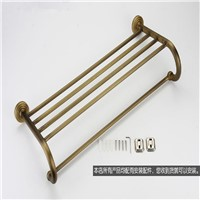AUSWIND Antique European Style Copper bathroom Towel rack Luxury Brush Bronze Towel Holder Wall Mounted bathroom accessories