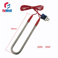Stainless Steel 220V 2KW Heating Element U Shaped Electric Heating Tube Heater for Swimming Pool or Bathtub
