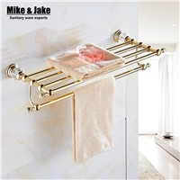 Bathroom Accessories golden Metal Pendant Towel Rack 2015 New Arrival Prateleira Cabideiro double Towel rack