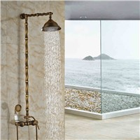 Best Selling High Quality Shower Mixer Faucet for Bathroom Antique Brass Wall Mounted
