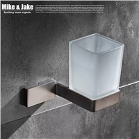 Bathroom accessories Single tooth cup holder brush nickel bathroom cup rack Square Single tumbler Tooth Cup Holder