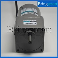 Bringsmart 220V AC Gear Motor Low-Speed Single-Phase Motor 40W  Fixed Speed with Capacitance