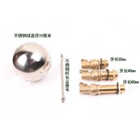 "1) 4"" Ball DN15 1/2""BSP Male Stainless Steel Brass Water Boiler Machine Float Valve Level Switch Hi-Temp Screw Length 20/40/60mm"