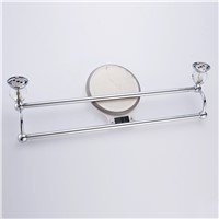 Antique Brass Towel Racks Polished Towel Bars Diamond&Crystal Double Layer Towel Holder Bathroom Accessories A0