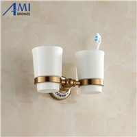 410AAP Series Aluminum Antique & Porcelain Base Cup & Tumbler Toothbrush Holder 2 Cups holder  Bathroom Accessories