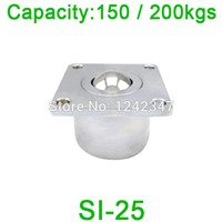 SI-25 200kg capacity machined solid steel ball bearing roller caster SI25 Heavy Duty Flanged Aircraft cargo Ball transfer unit