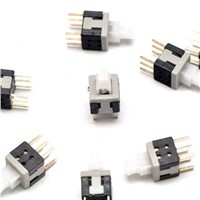 10PCS 5.8x5.8mm 6 Pin DIP Self-Lock ON/OFF lock Push Switch Power Switch Key Button Switch
