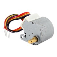 DHDL-DC 12V CNC Reducing Stepping Stepper Motor 0.6A 10oz.in 24BYJ48 Silver
