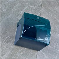 Blue Plastic Wall Mount Bathroom Toilet Paper Holder Water Proof Tissue Box