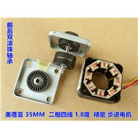 3V NMB Double ball bearing dia 35MM stepper angle 1.8 degree 2 phase 4 wire high precision stepper motor