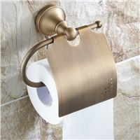 Antique Brushed Toilet Paper Holder Luxury Solid Brass Roll Holder Toilet Tissue Box Bathroom Accessories