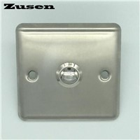 Zusen 19mm  Door bell push button  with  panel button is Nickel-plated brass