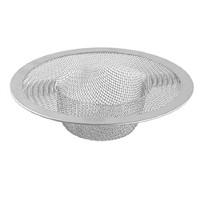 New Silver Kitchen Basket Drain Garbage Stopper Metal Mesh Sink Strainer