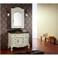 cherry solid wood bathroom cabinets 0281