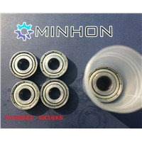 Best Sale  R1660ZZ MHF Chrome Steel Miniature Deep Groove Ball Bearings ABEC-1/P0 Z2 Size 6*16*6 mm Best Price High Performance