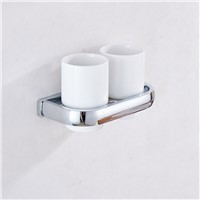 Aothpher Multi-functional Bathroom Cup Holder for Toothbrush Tumbler Holders with Brass Finished 5 Colors