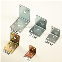 10PCS 40*40*40mm furniture metal corners angle bracket L shape frame board support fastening fittings K268