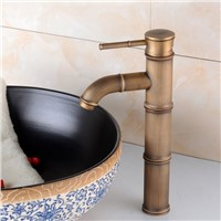 Bamboo antique bathroom faucet with classic solid brass bathroom basin sink faucet from DONA Sanitary Ware