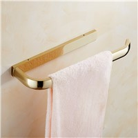 Antique European Golden Towel Rack Solid Brass Towel Bar Square Plate Towel Ring Shelf Bathroom Hanging Towel Rack