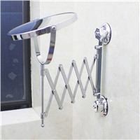 Bathroom Telescopic Mirror Washroom Ceiling Hanging Folding HD Magnifying Mirror (size: 44x3.7xH21-61cm)