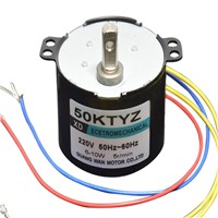 AC220V 10W 50KTYZ miniature slowdown permanent magnet synchronous AC motor Power Tools / Electric / DIY Accessories motor