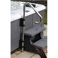 Under Mount Hand Rail - for safe hot tub access and exit, pool entance Safety Rail Brackets and Hardware Included